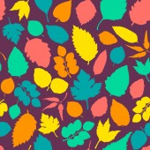 Pattern with leaves. — Stock Vector