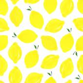 Pattern with lemons. — Stock Vector