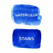 Set of watercolor stains. — Stock Vector