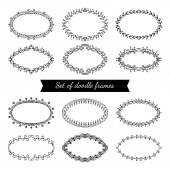 Set of doodle frames. — Stock Vector