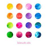 Watercolor dots.  — Stock Vector