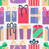 Seamless pattern with gifts. — Stock Vector