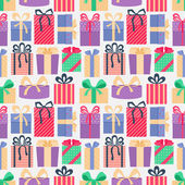 Seamless pattern with gifts. — 图库矢量图片
