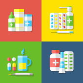 Medicines, isolated objects. — Stock Vector
