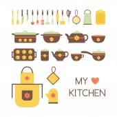Set of kitchen utensils. — Stock Vector