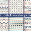 Set of six ethnic seamless patterns. — Stock Vector #70682485
