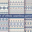 Set of six ethnic seamless patterns. — Stock Vector #70682501