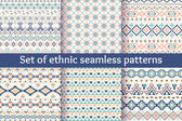 Set of six ethnic seamless patterns. — Vettoriale Stock