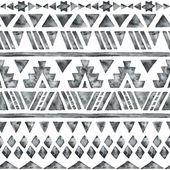 Etnické akvarel bezešvé vzor. — Stock vektor