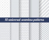 Set of ten subtle seamless patterns. — Stock Vector