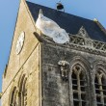 St Mere Eglise — Stock Photo #74551101