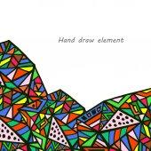 Geometric hand draw background — Stock Vector