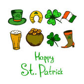 Set for Patrick's day — Stock Vector