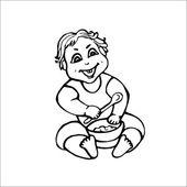 Little baby — Stock Vector