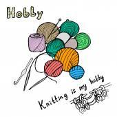 Knitting pattern — Stock Vector