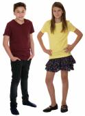 Children or young teenagers full body portrait isolated — Stockfoto