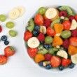 Fruit salad with fruits like strawberries, blueberries and apric — Stock Photo #60672115