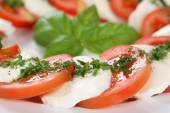 Caprese salad with tomatoes and mozzarella cheese — Stockfoto