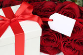 Gift box with copyspace for birthday gifts, Valentine's or mothe — Stok fotoğraf