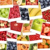 Food fruits background with apple fruit, oranges, lemons — Foto Stock