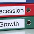 Growth and recession in office company business concept — Stock Photo #71311169