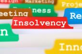 Insolvency, bankruptcy or liquidation business concept register  — Stock Photo
