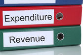 Revenue and expenditure account finances in company business con — Stock Photo