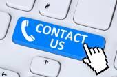 Contact us calling service customer hotline telephone symbol — Stockfoto