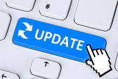 Computer software update network security virus — Stock Photo
