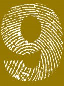 отпечаток пальца номер 9 — Cтоковый вектор