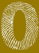 Fingerprint Number 0 — Stock Vector