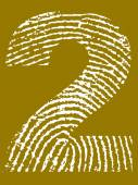 Fingerprint Number 2 — Stock Vector