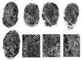 8 FingerPrints — Stock Vector