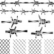 Barbed Wire Elements — Stock Vector #71261323