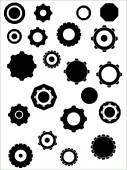 Industrial Graphic elements - Cogs and wheels — Stock Vector