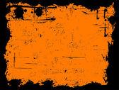 Bordo nero Grunged — Vettoriale Stock