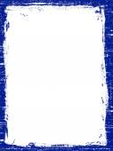 Dark Blue Grunged border — Stock Vector
