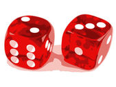 2 dice showing 2 and 3 — Stock Vector