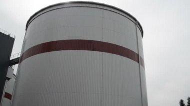 Biogas plant water treatment facility sludge renewable energy — Stock Video