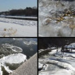 Ice floe floating on river water in winter season beautiful tale — Stock Video #60993771