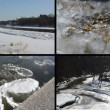 Ice floe floating on river water in winter season beautiful tale — Stock Video #67410013
