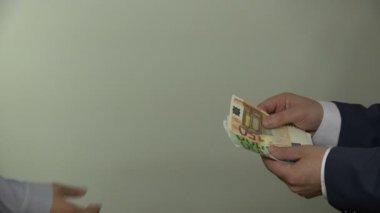 Fancy woman blackmail her boss. 4K — Stock Video