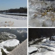 Ice floe floating on river water in winter season beautiful tale — Stock Video #76783383