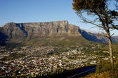 Table mountain in cape town, south africa — Stock Photo