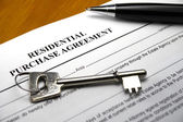 Residential purchase agreement — Stock Photo