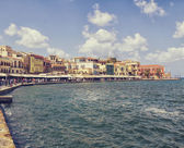 Chania on island of Crete, Greece — Stock Photo