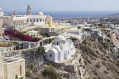 Beautiful scenery of Thira — Stock Photo