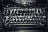 Antique typewriter keys, shallow focus — Stock Photo