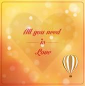 Vše co potřebujete je láska — Stock vektor