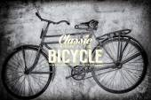 Old rusty vintage bicycle — Stock Vector
